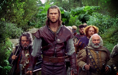 Chris Hemsworth & the dwarves.