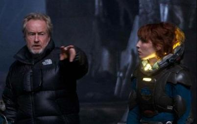 Ridley Scott & Noomi Rapace (Prometheus).