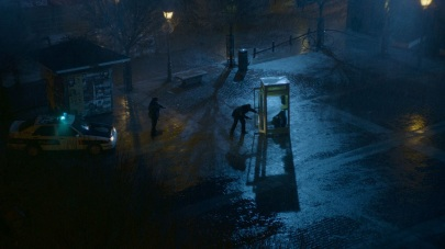 The infamous phone booth scene.