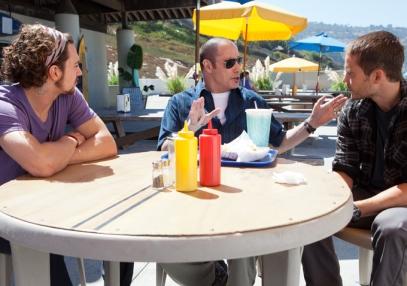 Aaron Taylor-Johnson, JohnTravolta & Taylor Kitsch.