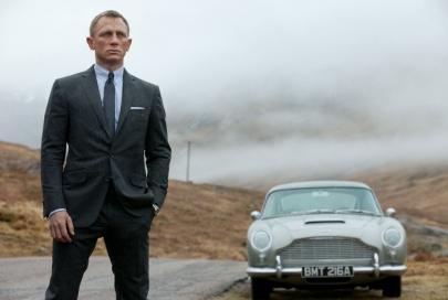 Craig & Bond's signature Aston Martin.