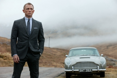 Craig & Bond's signature Aston Martin.
