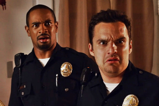 Jake Johnson and Damon Wayans, Jr. leaving their New Girl comrades behind.