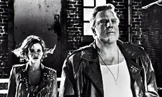 Mickey Rourke and Jessica Alba tearing down Sin City.