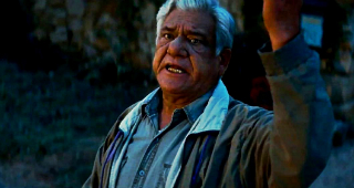 Om Puri absorbing Hollywood's warm embrace.