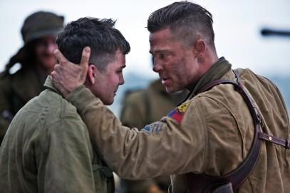 Brad Pitt & Logan Lerman.
